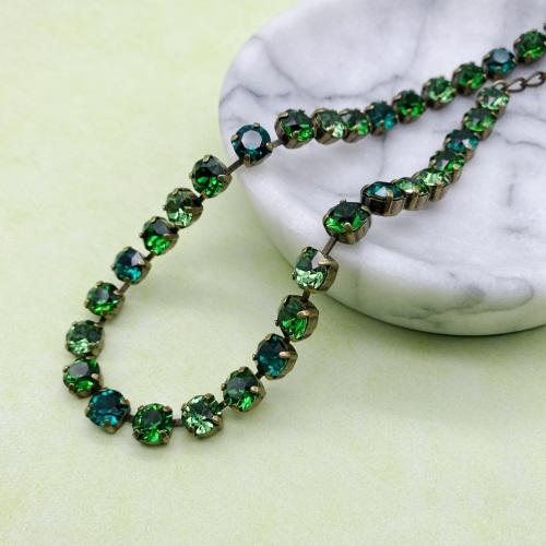 Green Ombré Crystal Choker