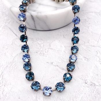 Blue Ombré Crystal Choker