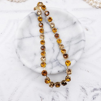 Gold Shades Ombre Crystal Choker