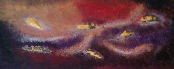 Golden Red Lava #1 - 24K Gold