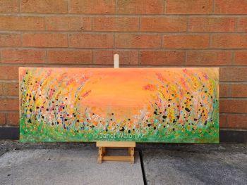Orange Skies part of my The Secret Crystal Sunset Flower Garden Collection by (c) Janet Watson Art