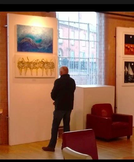 ©JanetWatsonArt Artwork at The Atkins Building at Hinkley Art Excibition on