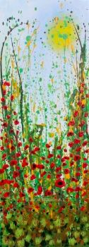 Poppy Meadow in the Sun - Contemporary Poppy Meadow Collection by Janet Watson Art