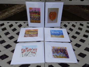 Six Greetings Cards by Janet Watson Art