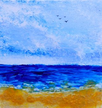 Sold - Sand Dune Seas - Seaside Collection by Janet Watson Art