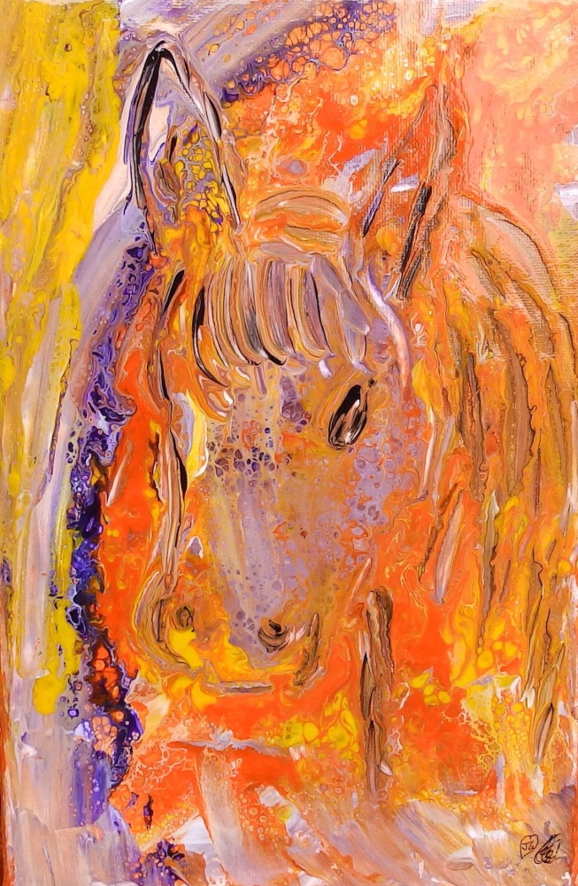 Hi there ! Horse/Pony Collection by (c) Janet Watson Art - Original Art - 8