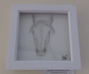 Who's looking at you ? I am :) Charcoal Collection by (c) Janet Watson Art - Original Art - Size: 15 x 15 cm on Art Paper (2018)