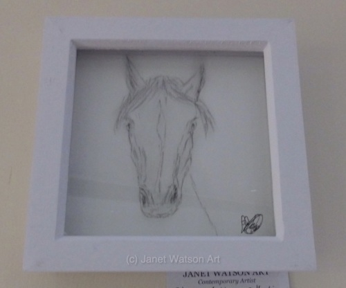 Who's looking at you ? I am :) Charcoal Collection by (c) Janet Watson Art