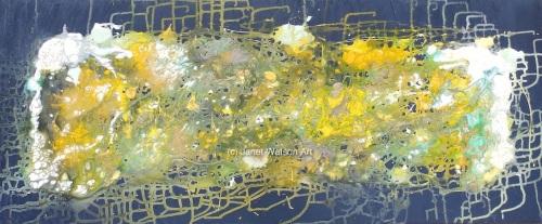 Golden White Opaque Quartz - Underground Caves Collection - Original Art -