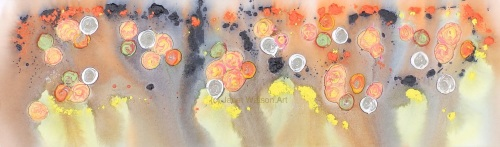 Sunny Rocks - Original Art - Rocks and Pools Collection - Size; 30 x 100 x