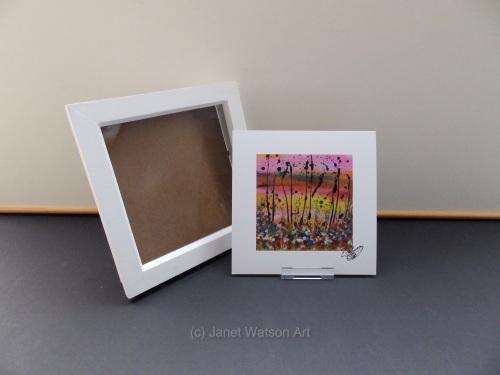 #1 The Secret Crystal Flower Garden #1 by (c) Janet Watson Art