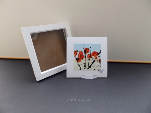 Signed Print Only - Contemporary Red Poppies Collection by (c) Janet Watson