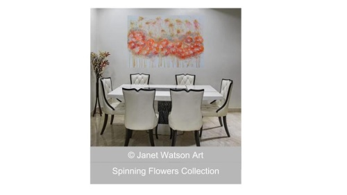 Wedding Floral - Spinning Flower Collection by (c) Janet Watson Art
