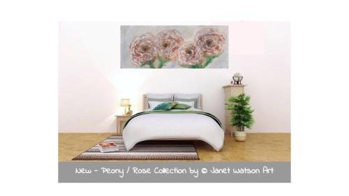 1# 30 Paintings in 30 Days - Citrine Quartz Dreaming - Original Art - Rose/