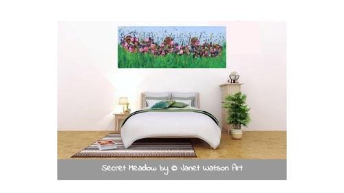 Secret Meadow - Original Art - 100 x 40 cm - Flower Meadow Collection by (c