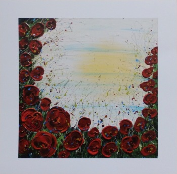Ed 5/100 1918 2018 - Fine Art Limited Edition, Signed, Numbered, Prints with a white boarder Size: 30 x 30 cm by (c) Janet Watson Art