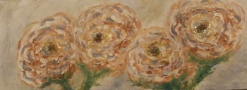 1# 30 Paintings in 30 Days - Citrine Quartz Dreaming - Original Art - Rose/Peony Collection by Janet Watson Art