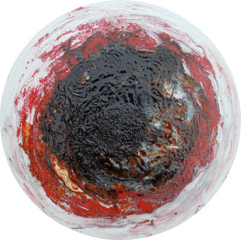 Deep Space Agate - Slice Agate Collection - Round Canvas - Mixed Media - Size: 30 cm by Janet Watson Art