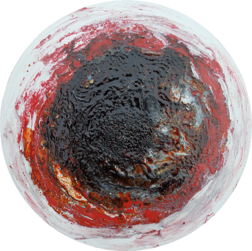 Deep Space Agate - Slice Agate Collection - Round Canvas - Mixed Media - Si
