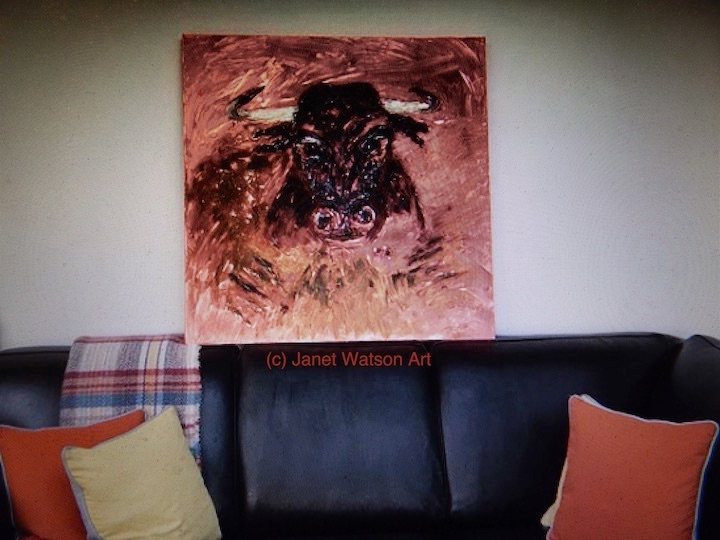 (c) Bull art by Janet Watson Art Commission