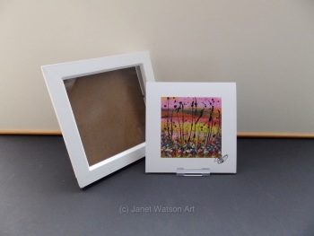Free Frame * The Secret Crystal Flowers Garden Collection #1- 15x15 cm by Janet Watson Art