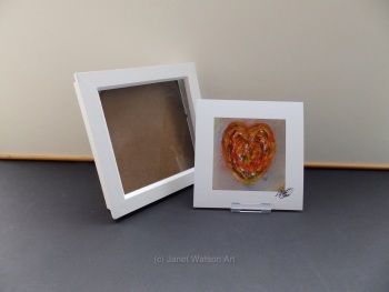 Free frame * Antique Heart - Love 15x15cm Love Heart Collection Print Only by Janet Watson Art