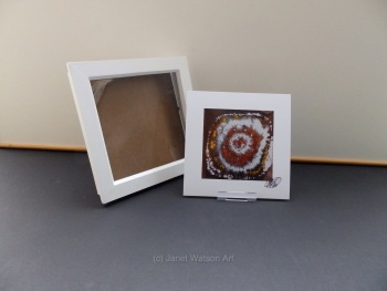 Free Frame * Flow Kaleidoscope Agate - Agate Slice Collection  15 x 15 cm by Janet Watson Art