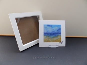 Free Frame * Holiday Dreaming - Seaside Collection 15 x 15 cm  by Janet Watson Art