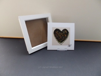Free Frame * Inner Love Green  - 15 x 15 cm Square - has a white boarder around the edge by Janet Watson Art