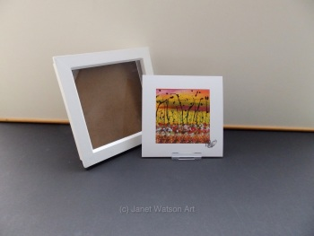Free Frame * The Secret Crystal Flowers Garden Collection #2- 15x15 cm by Janet Watson Art