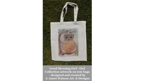 Good Morning Owl Tote Bag