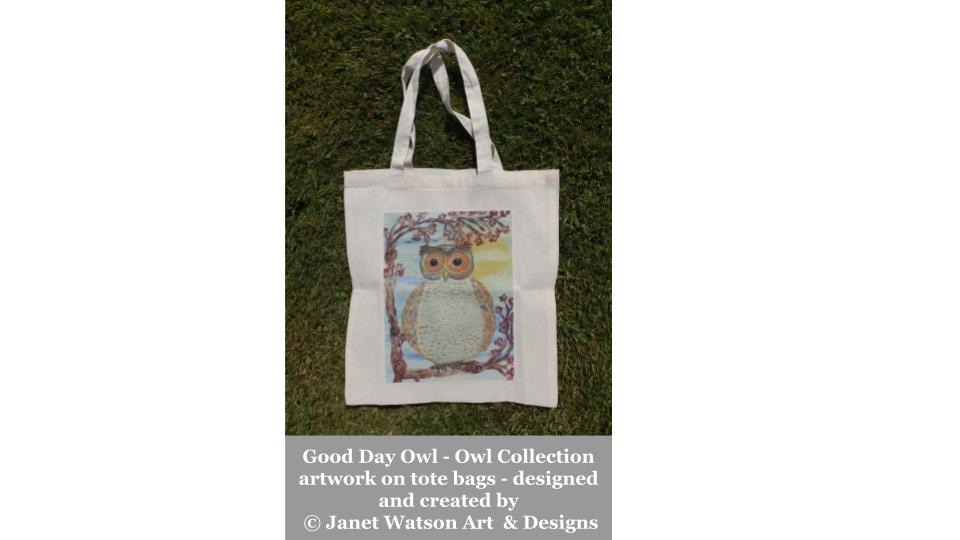 Good Day Owl Tote Bag