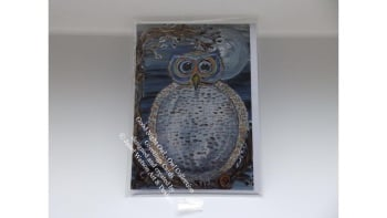 Good Night Owl Greetings Card with Envelope