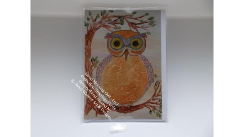 Good Morning Owl Greetings Card with Envelope