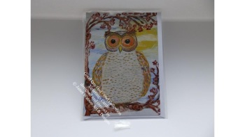 Good Day Owl Greetings Card with Envelope