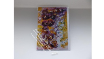 Purple Satin Greetings Card with Envelope