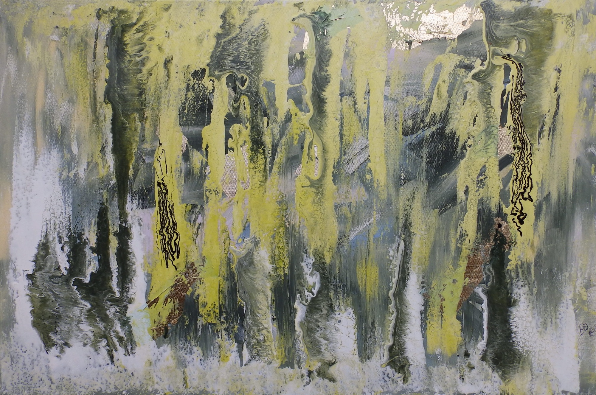 Forest Green - 20 x 30 inches by (c) Janet Watson Art
