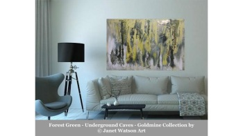 Forest Green – Underground Caves – Goldmine Collection – designed and created by (c) Janet Watson Art