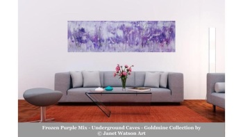 Frozen Purple Mix - 30 x 100cm – Underground Caves – Goldmine Collection – designed and created by © Janet Watson Art