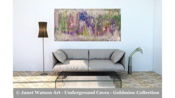 Amethyst Jade – Underground Caves – Goldmine designed and created by (c) Janet Watson Art