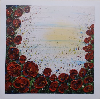 1918 - 2018 - Limited Edition - Poppy Print - 60 x 60 cm