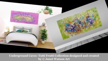 Underground Caves -Tutti Frutti Collection designed and created by © Janet