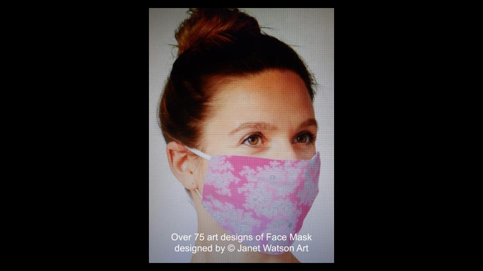 Web facemask 2 (c) janetwatsonart