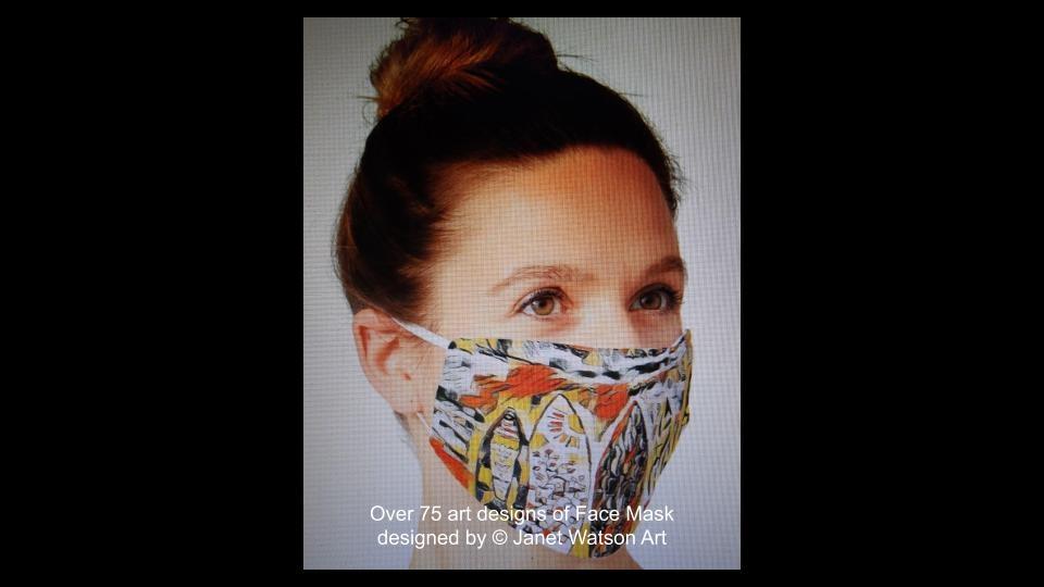 Web facemask 5 (c) janetwatsonart