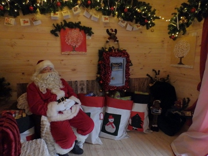 Santas Grotto at Wyevales RGC (c) Janet Watson Art - Spinning Flowers Trees