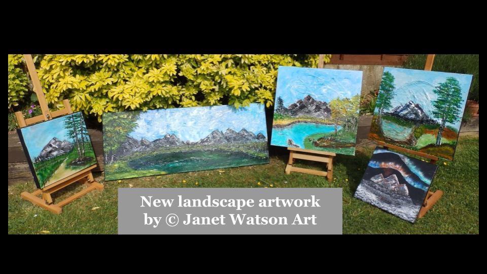 New Landscape artwork by (c) Janet Watson Art .