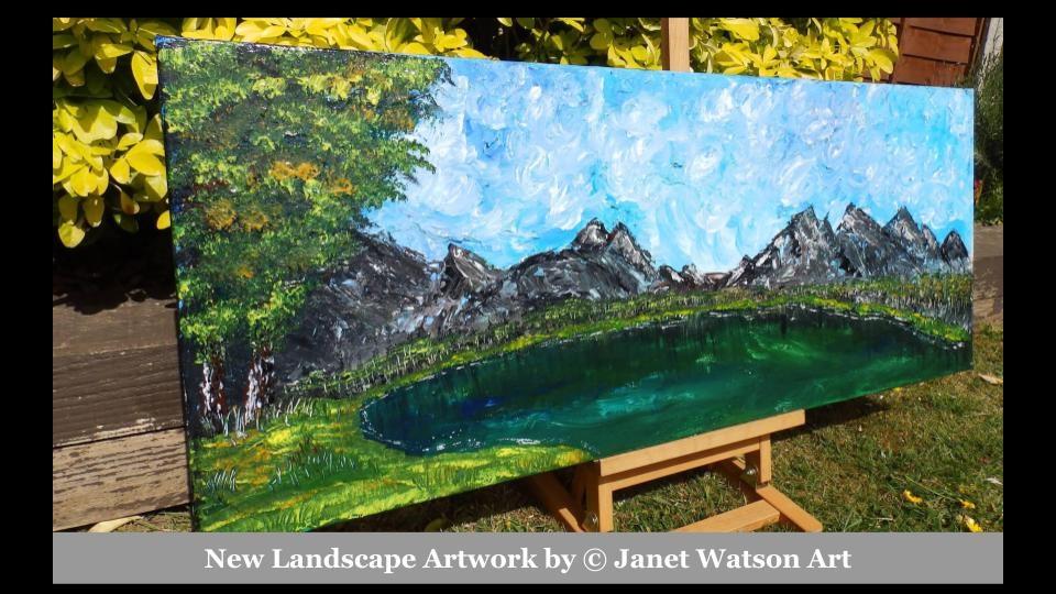 New Landscape artwork by (c) Janet Watson Art xx