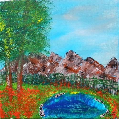 Poppy Mountain by Janet Watson Art