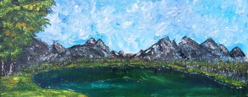Rocky Lake by Janet Watson Art