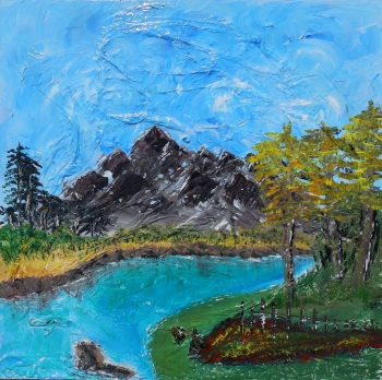 Deep Blue Lake by Janet Watson Art